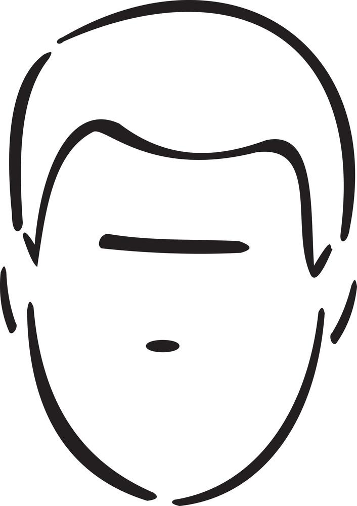 Illustration Of A Haircut Man.