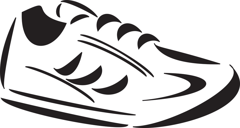 Illustration Of A Jogging Shoes.