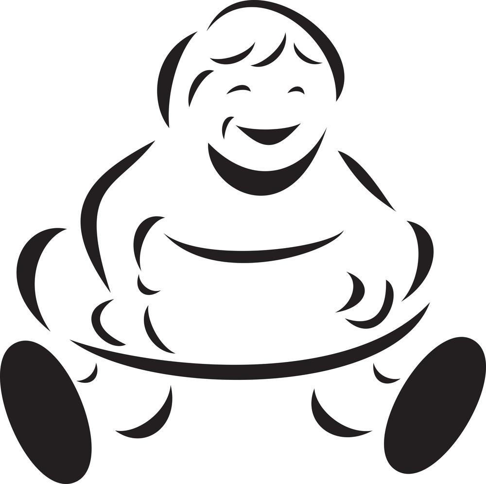 Illustration Of A Kid In Inner Tube.