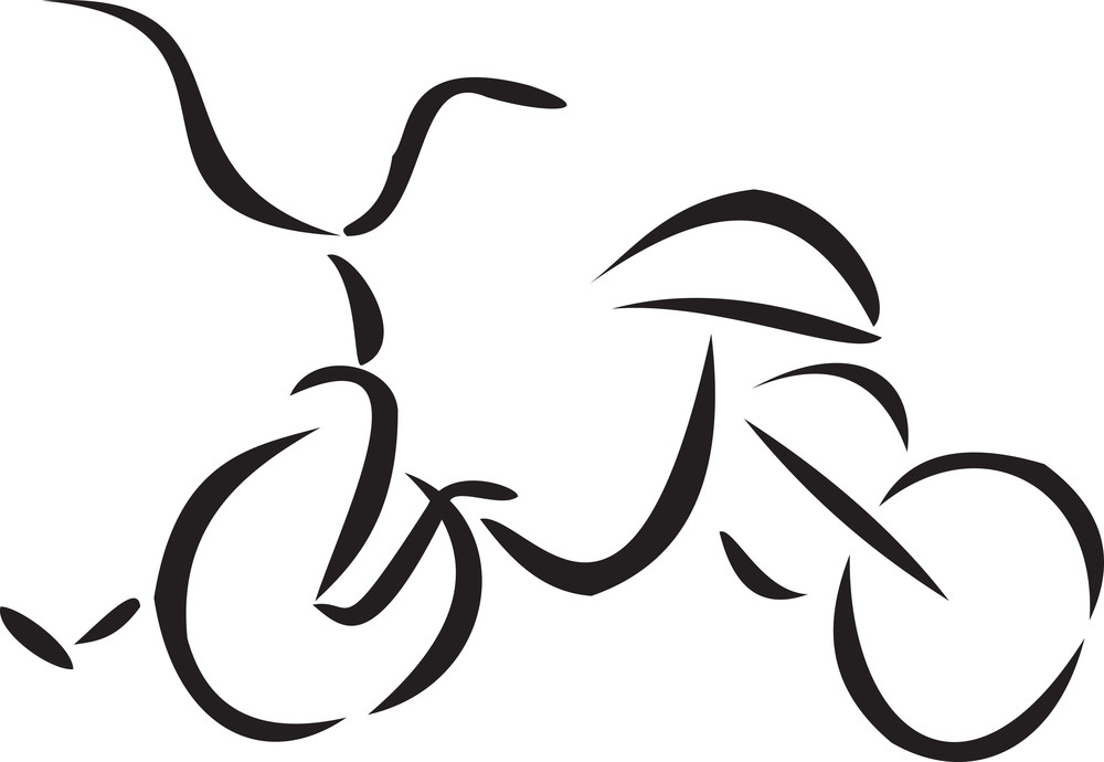 Illustration Of A Kids Bicycle.