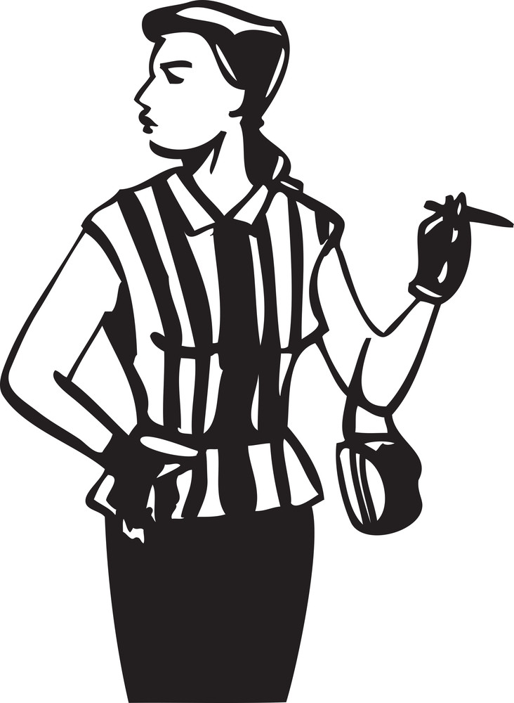 Illustration Of A Lady With Cigar And Hand Bag.