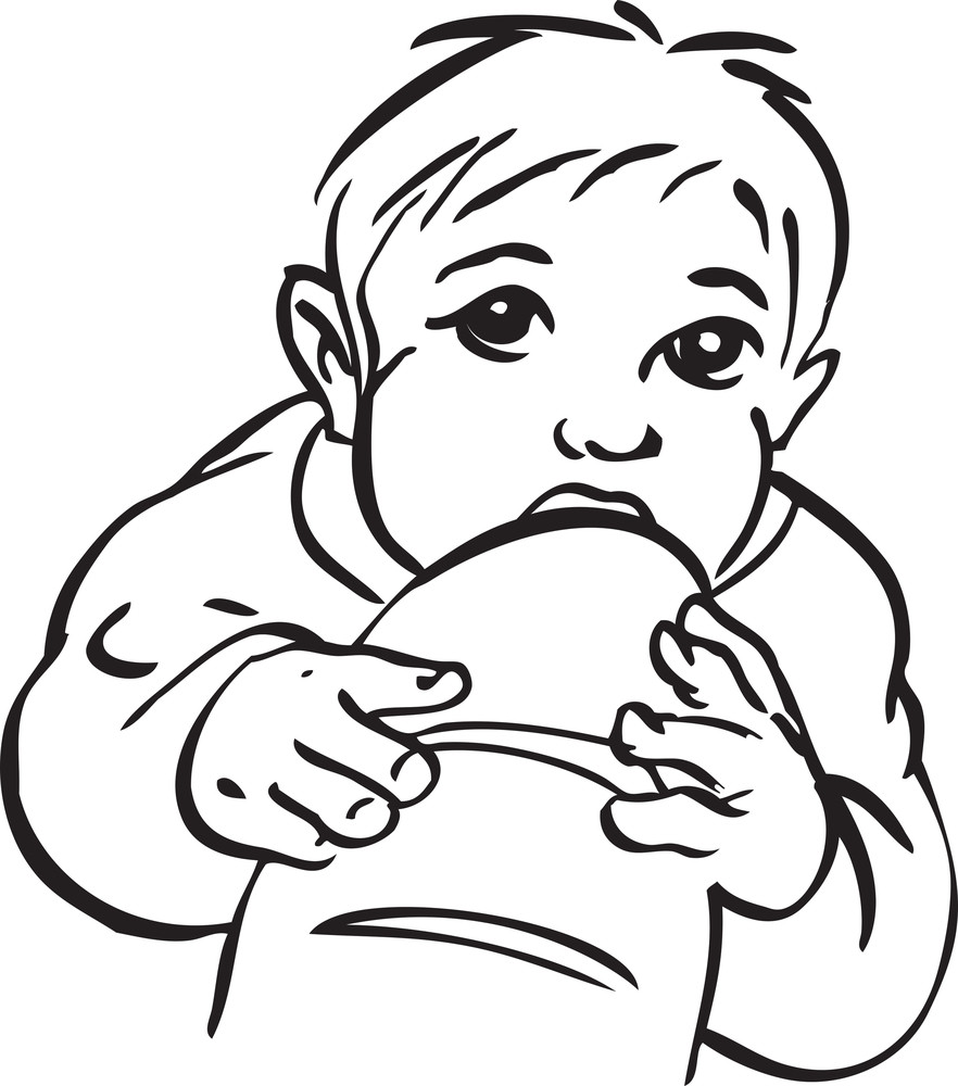 Illustration Of A Little Baby.