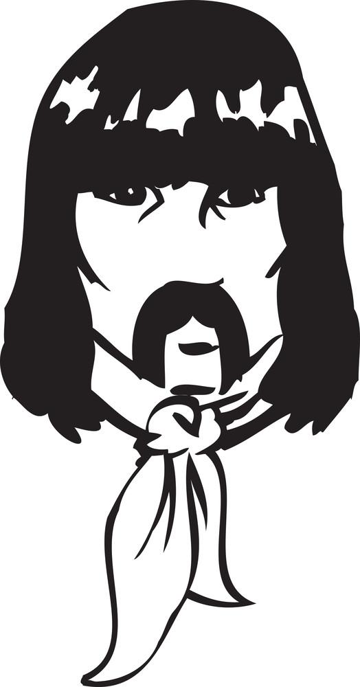 Illustration Of A Man Face.