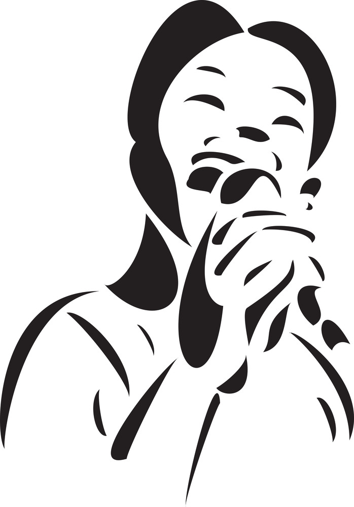 Illustration Of A Man Singing A Jazz Song In Mike.