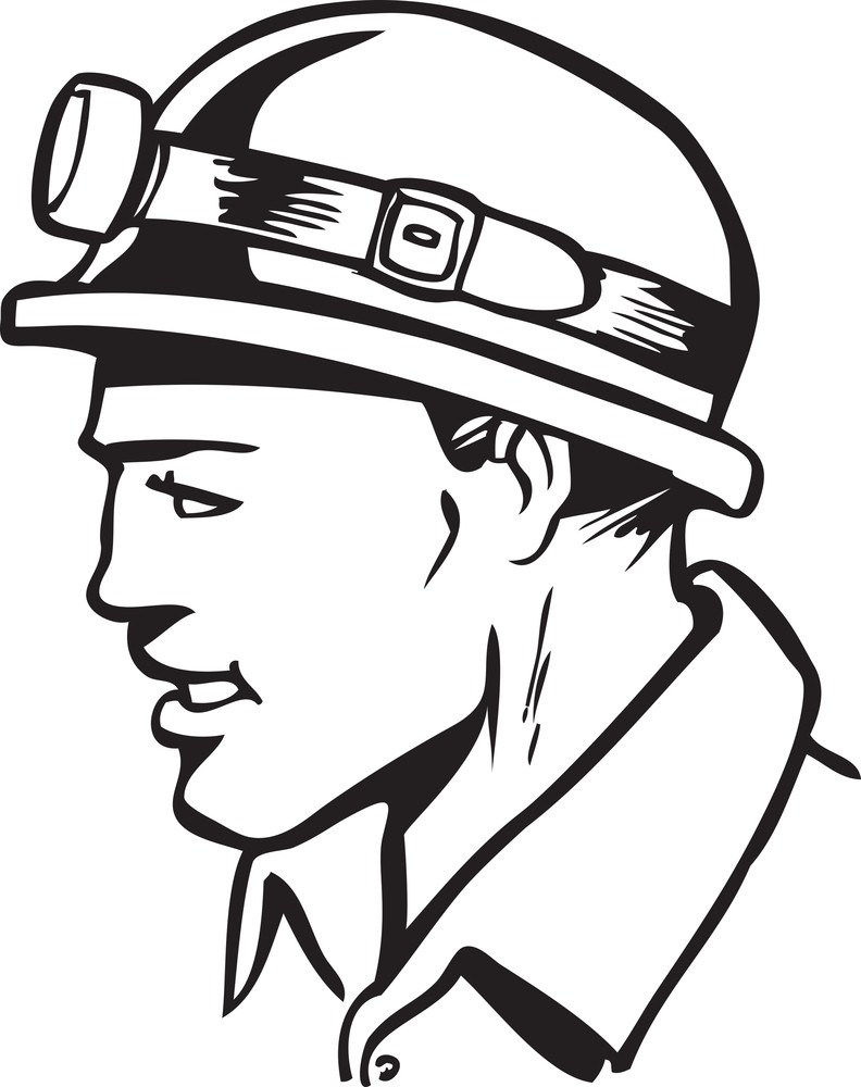 Illustration Of A Miner.