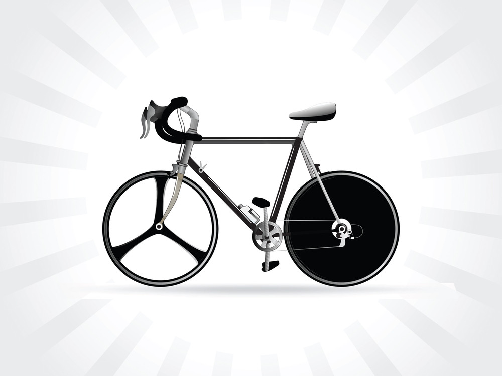Illustration Of A Modern Racing Bicycle
