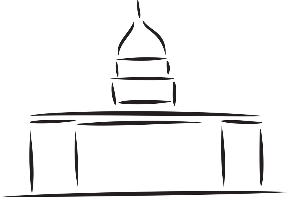 Illustration Of A Monument Of America.