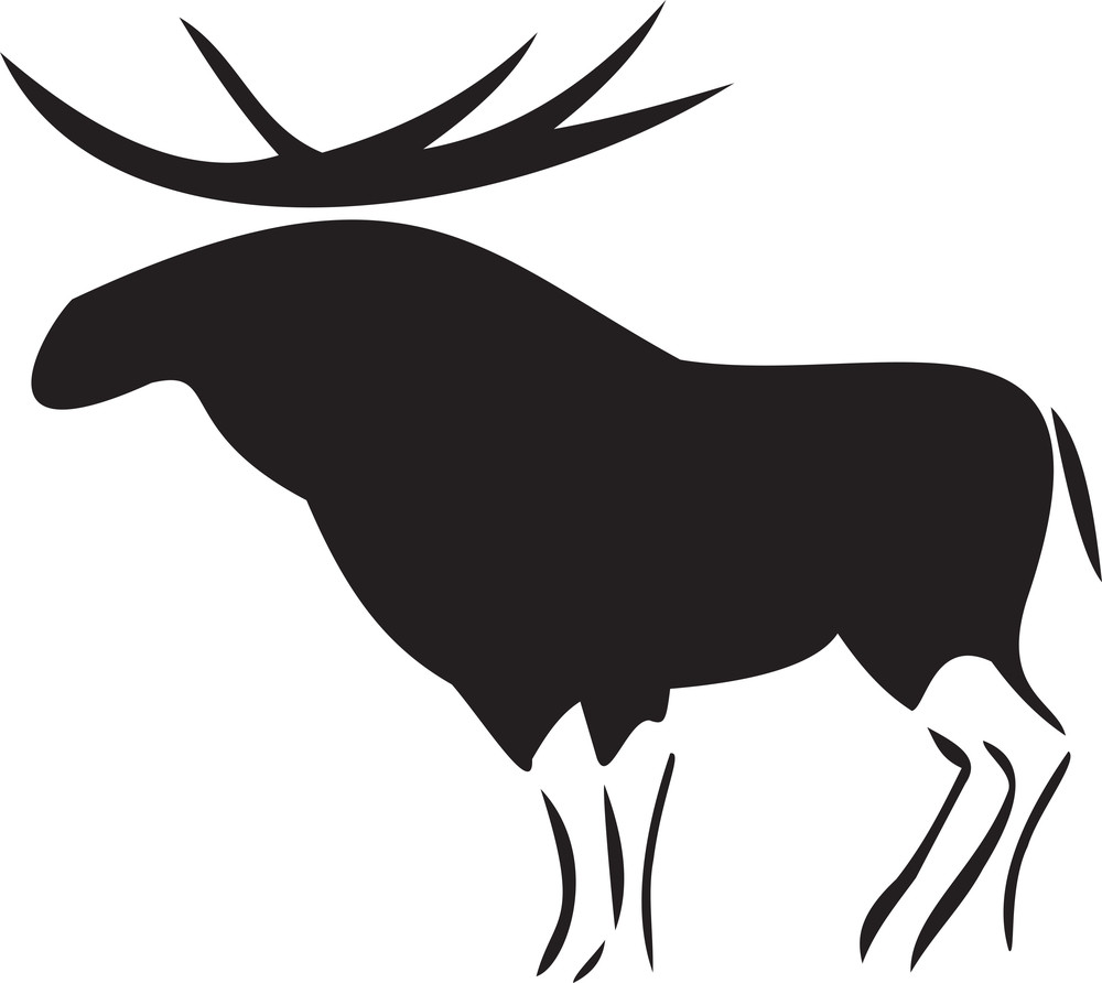 Illustration Of A Moose.