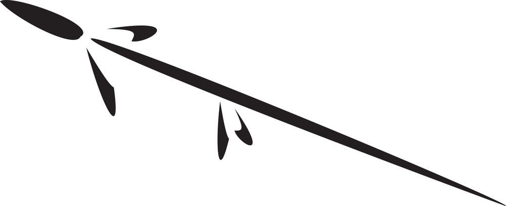 Illustration Of A Native American Spear.