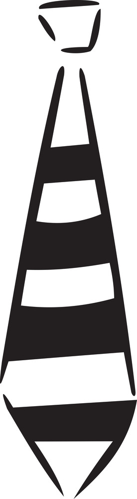Illustration Of A Neck Tie.