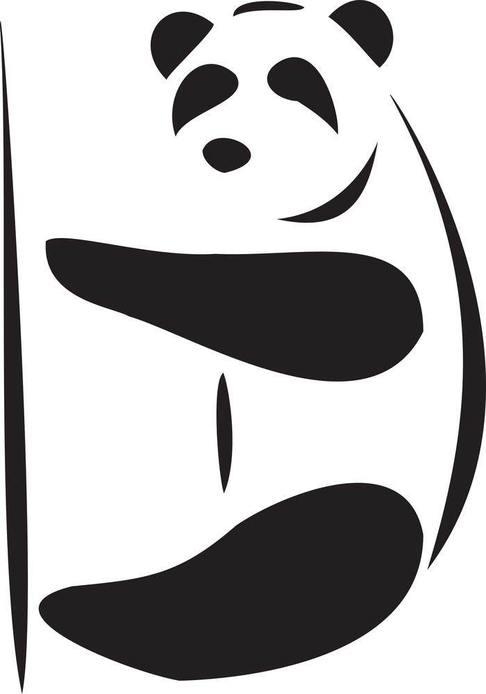 Illustration Of A Panda.