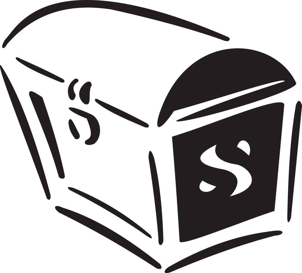 Illustration Of A Pirate's Treasure Box.