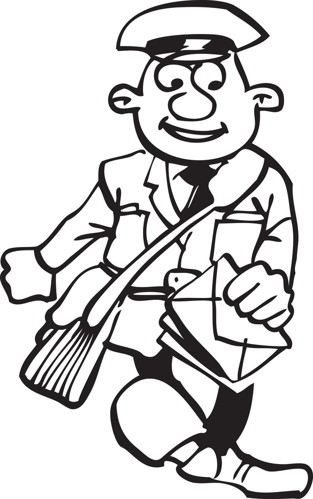 Illustration Of A Postman.
