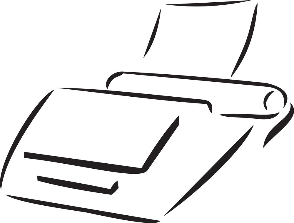 Illustration Of A Printer.