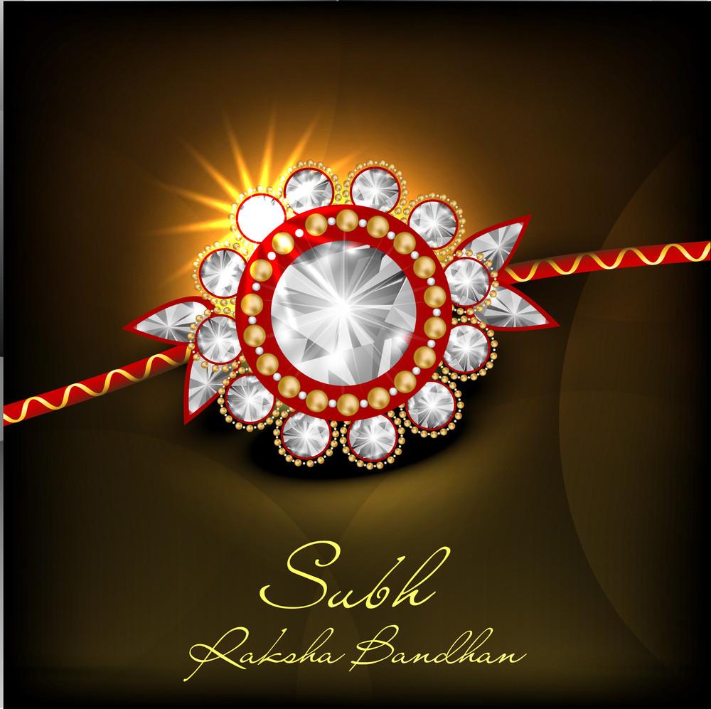 Illustration Of A Rakhi For Raksha Bandhan Festival.