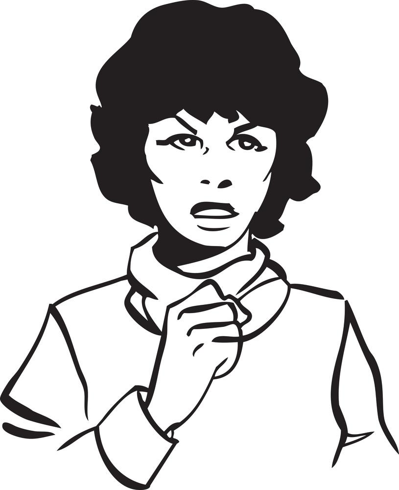 Illustration Of A Retro Woman.