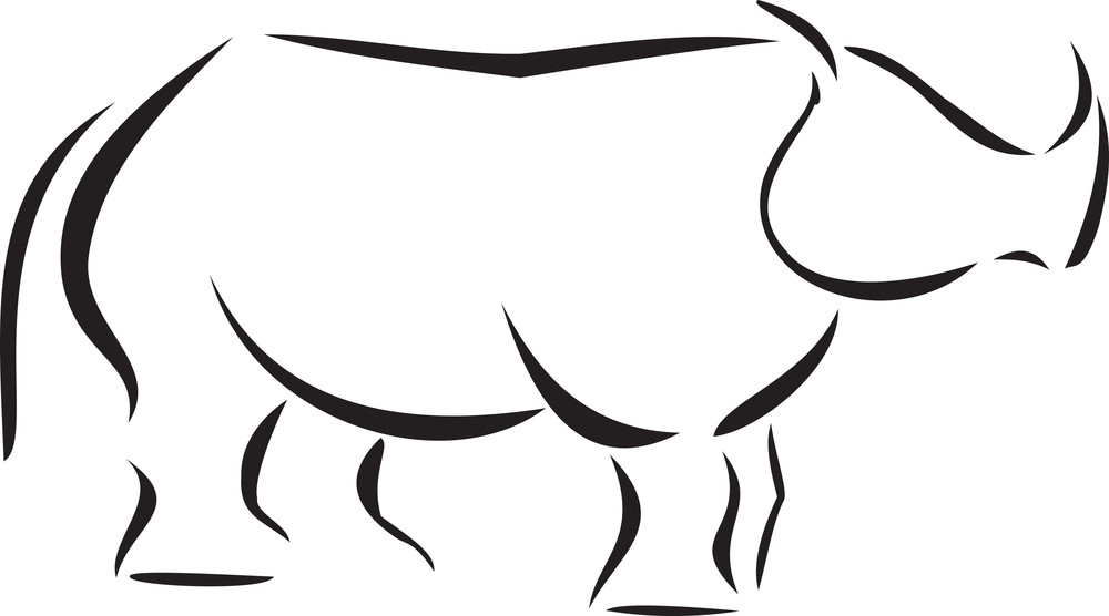Illustration Of A Rhinoceros.