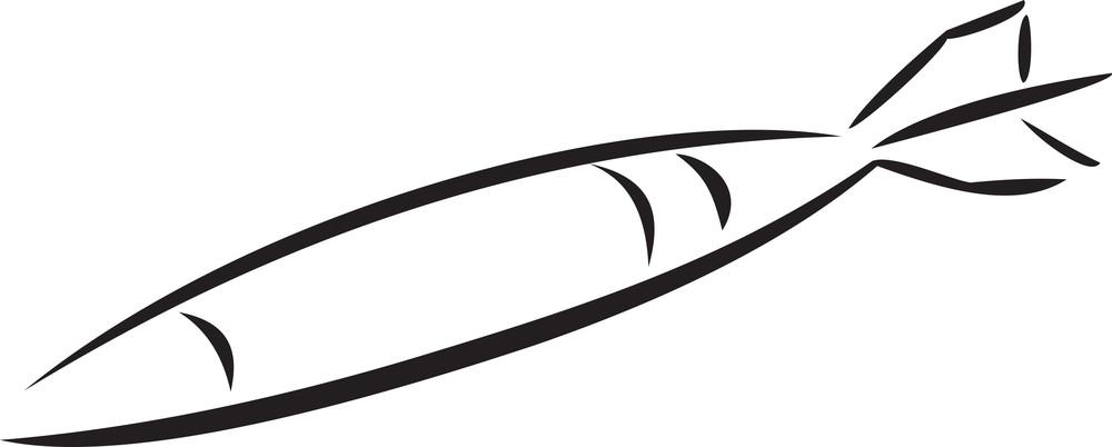 Illustration Of A Rocket.