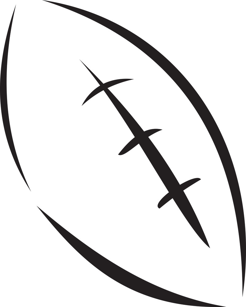 Illustration Of A Rugby Ball.