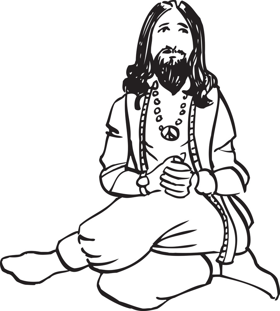 Illustration Of A Sadhu.
