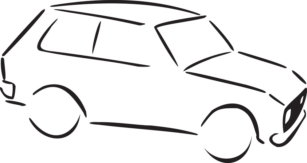 Illustration Of A Serbian Car.