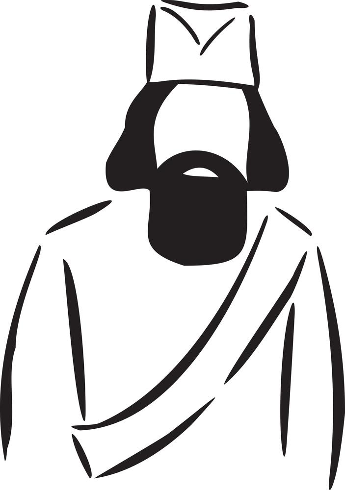 Illustration Of A Serbian Man.