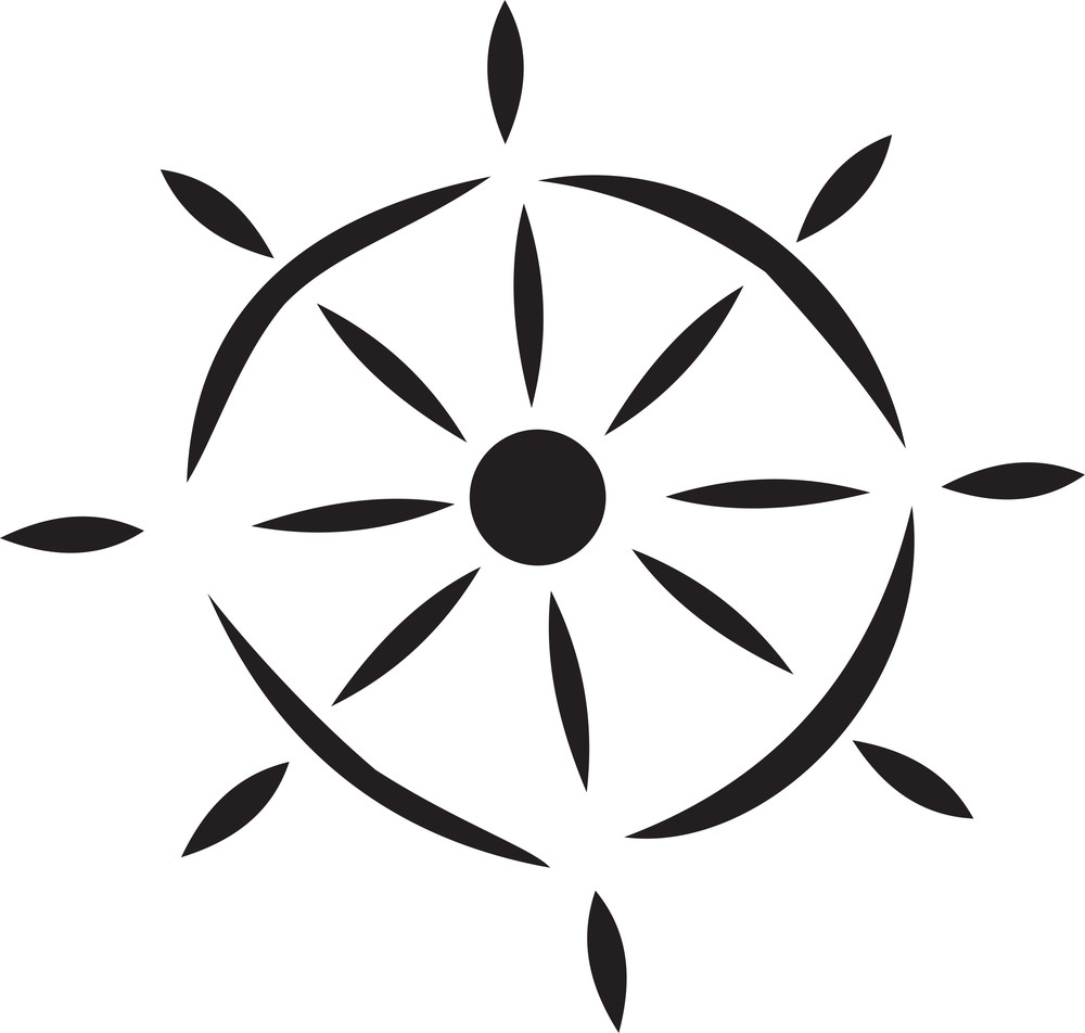 Illustration Of A Ship Wheel.