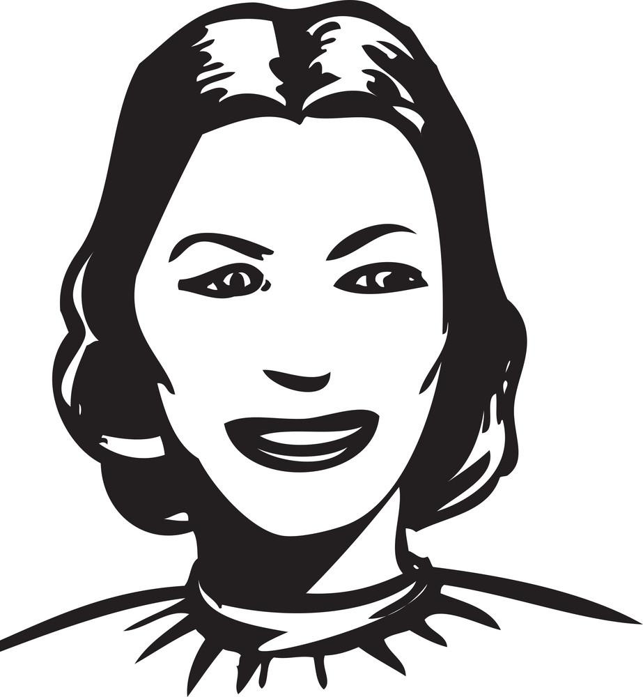 Illustration Of A Smiling Girl.