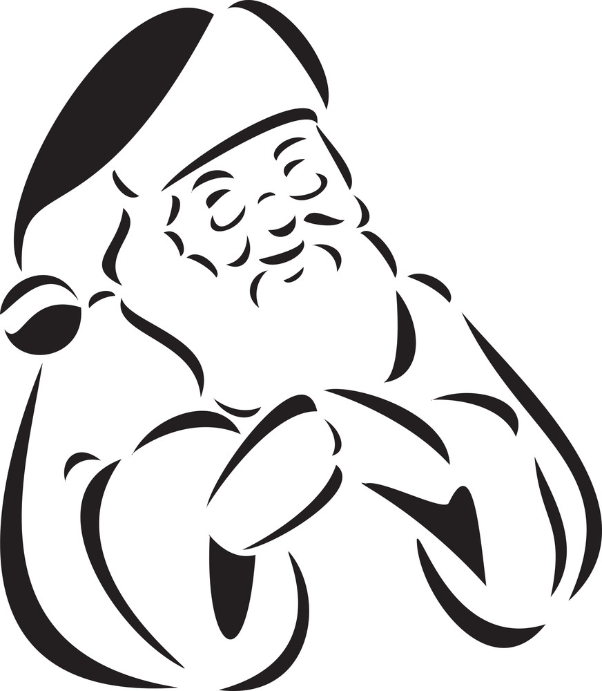 Illustration Of A Smiling Santa Claus.