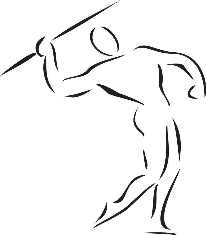 Illustration Of A Sports Man.