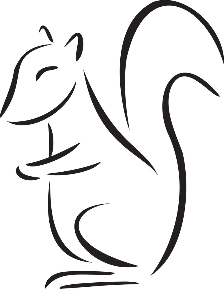 Illustration Of A Squirrel.