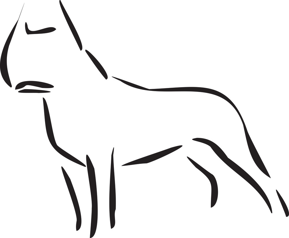 Illustration Of A Standing Dog.
