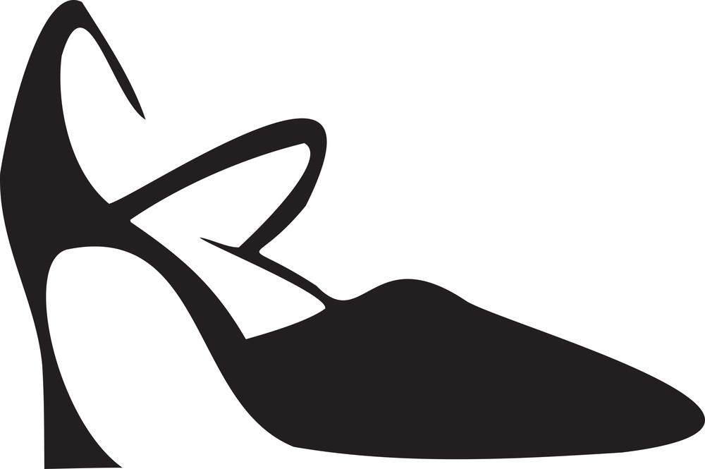 Illustration Of A Stylish Ladies Shoes.