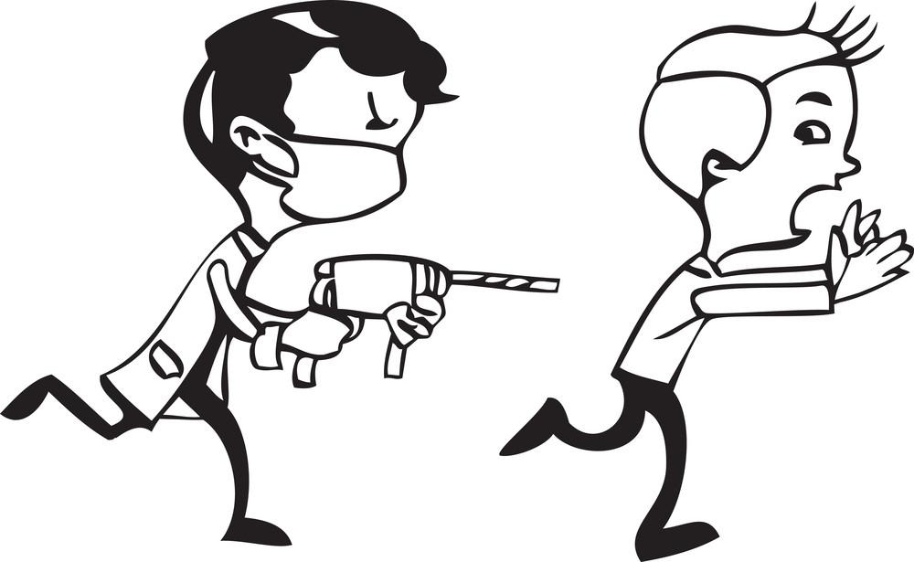Illustration Of A Two Men.