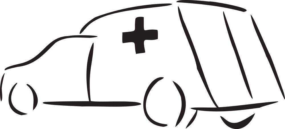 Illustration Of An Ambulance.