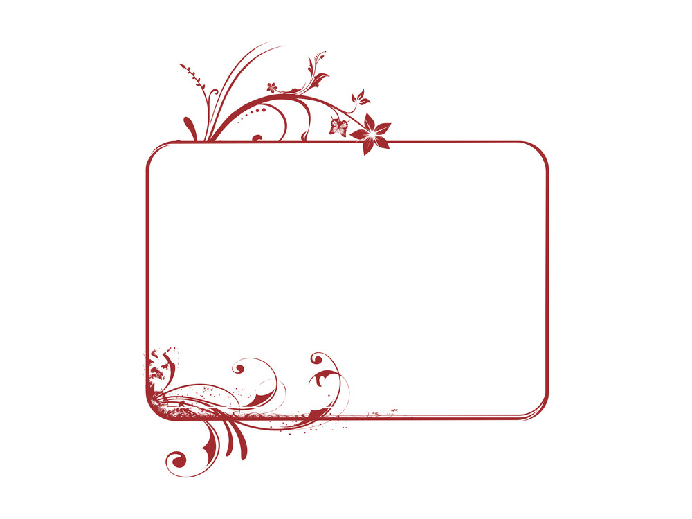 Illustration Of Beautiful  Brown Floral Frame