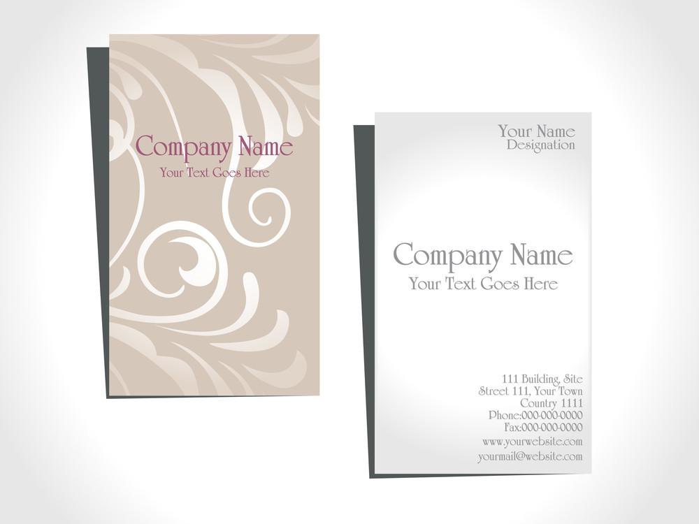 Illustration Of Business Card
