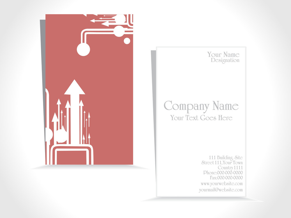 Illustration Of Business Card