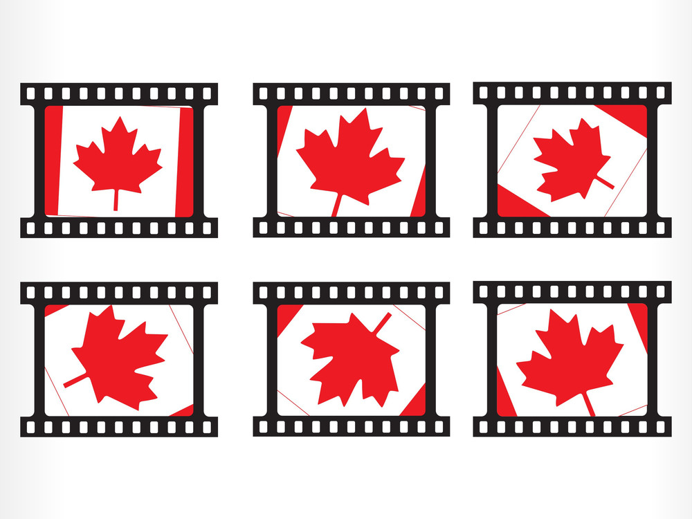 Illustration Of Canada Flag Stamp