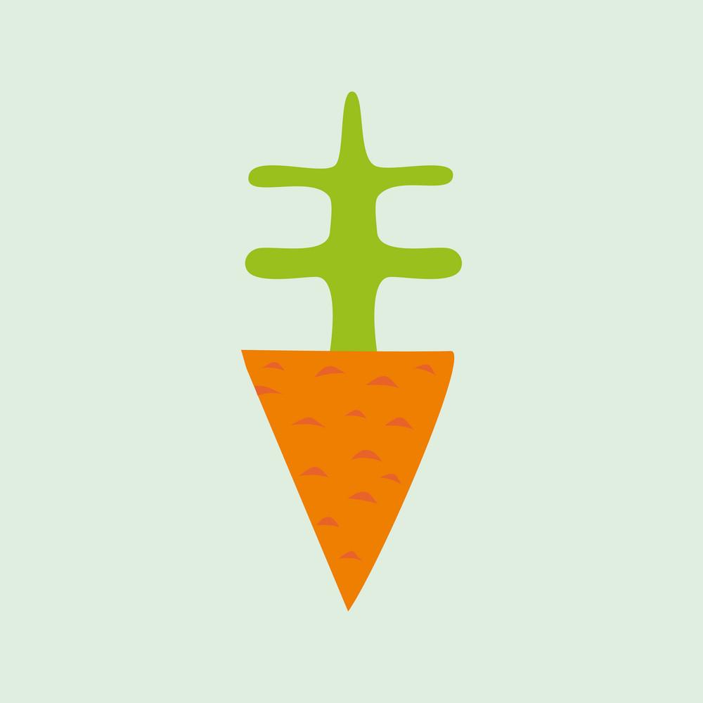 Illustration Of Cartoon Carrot