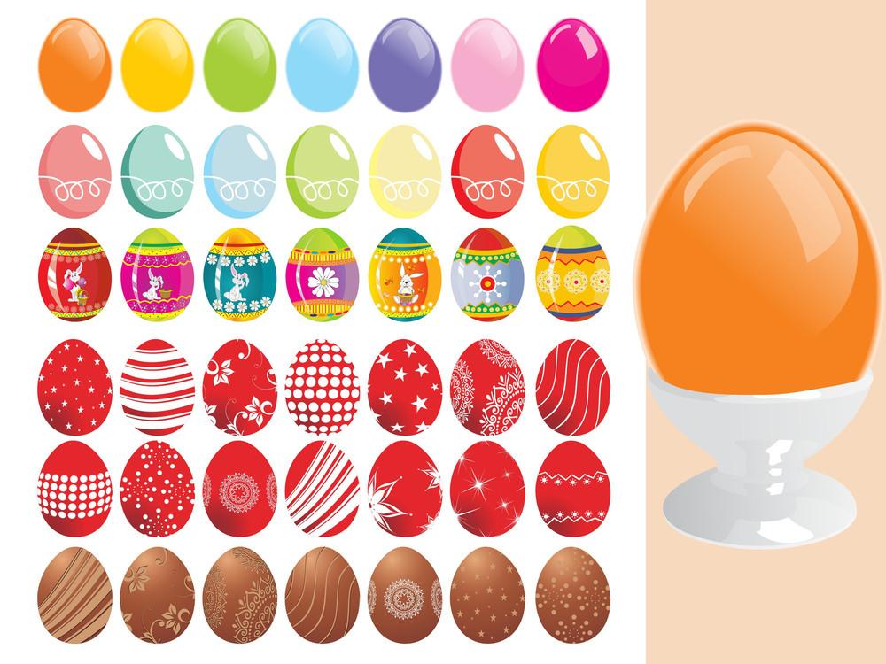 Illustration Of Colorful Easter Egg