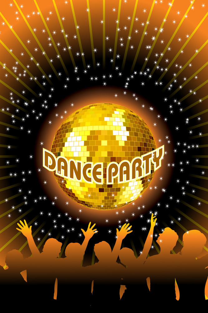 Illustration Of Dance Party Background