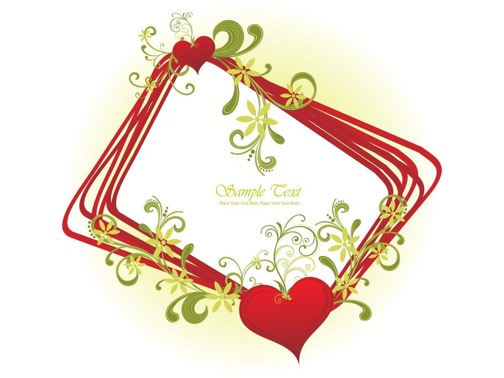 Illustration Of Decorated Romantic Frame