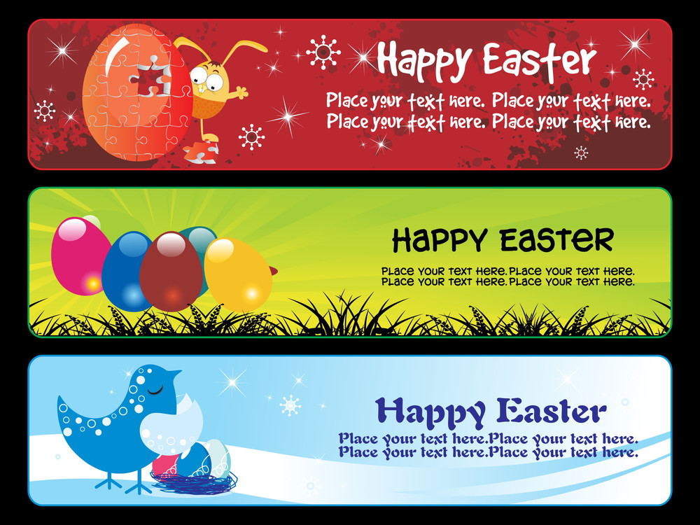 Illustration Of Easter Banner