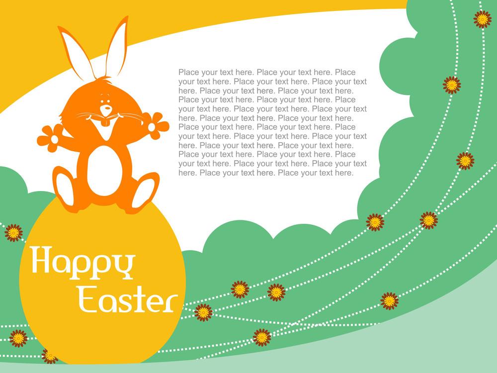 Illustration Of Easter Card