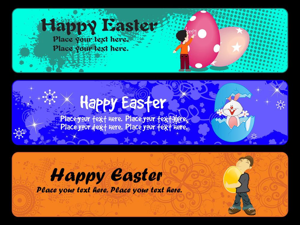 Illustration Of Easter Day Banner