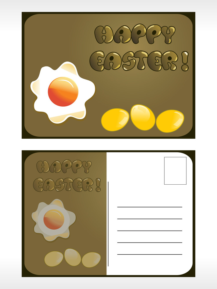 Illustration Of Easter Post Card