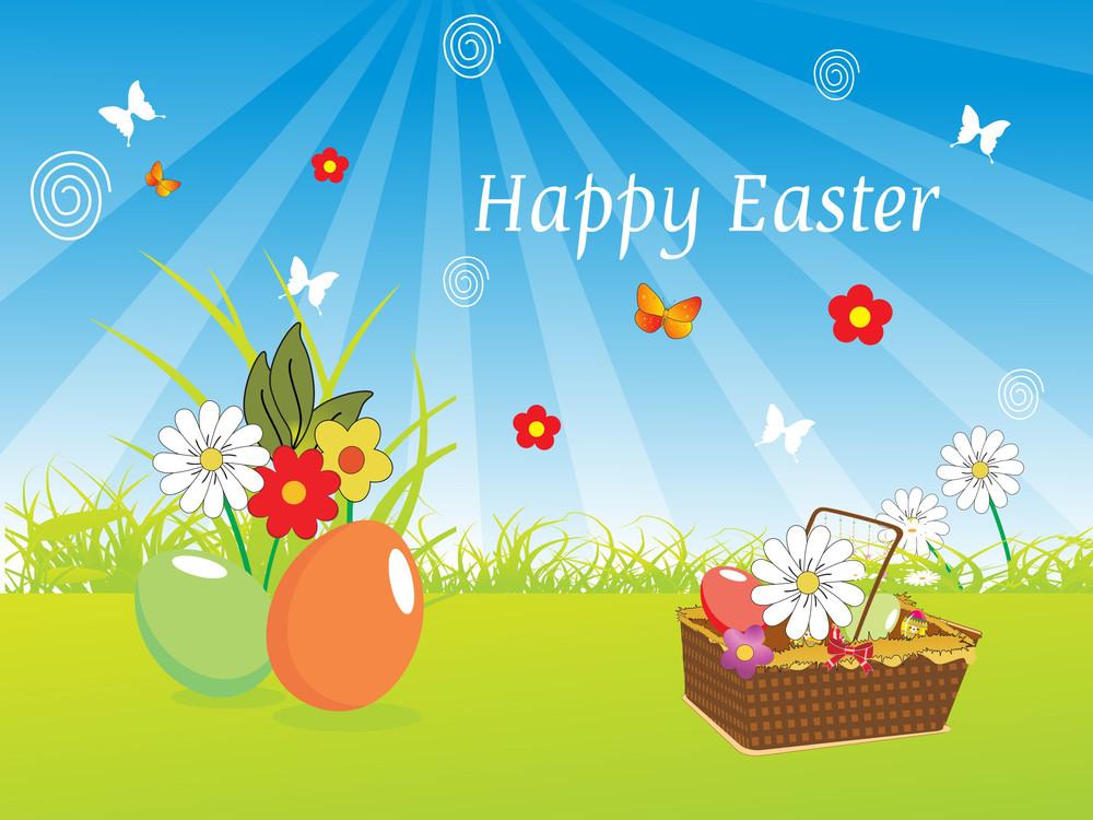Illustration Of Easter Wallpaper
