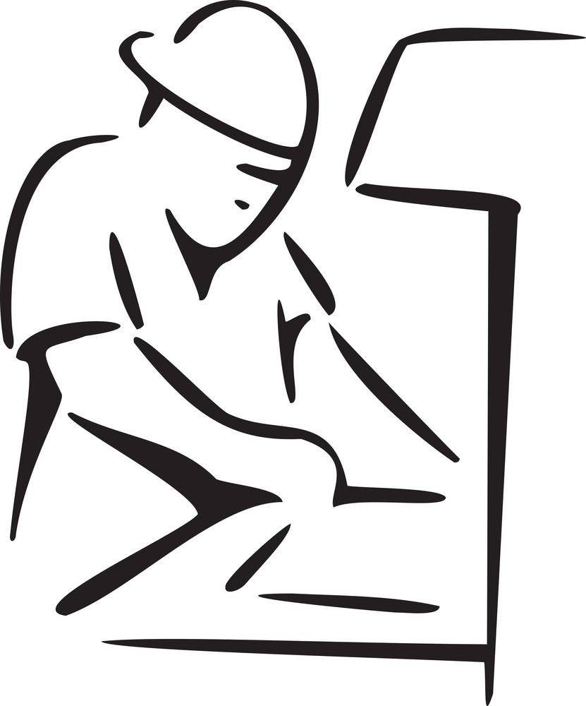 Illustration Of Fectory Worker.