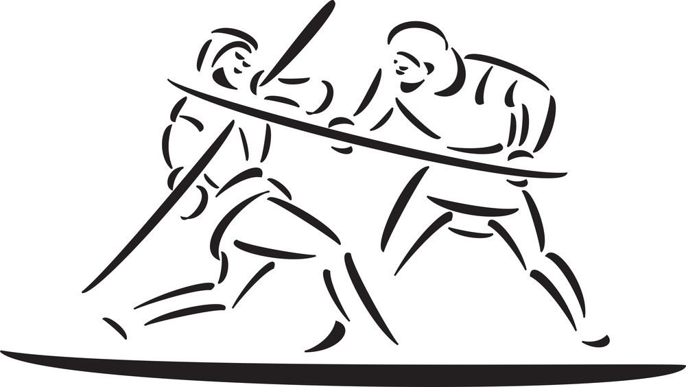 Illustration Of Fighting Robin Hood Character With Weapon.